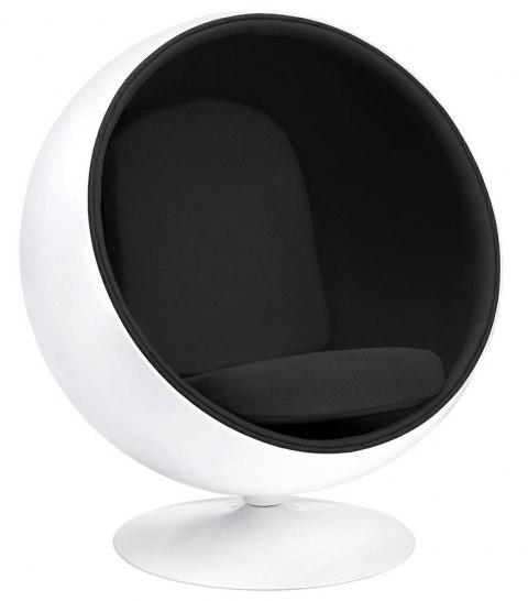 fotel ball czarny