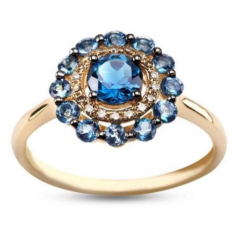 pierścionek 18 diamentów