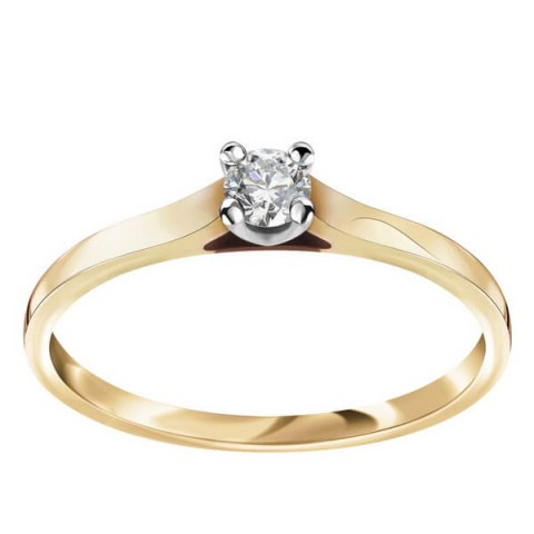 pierścionek diament klasyk
